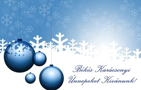 Békés Karácsonyi Ünnepeket Kivánunk!