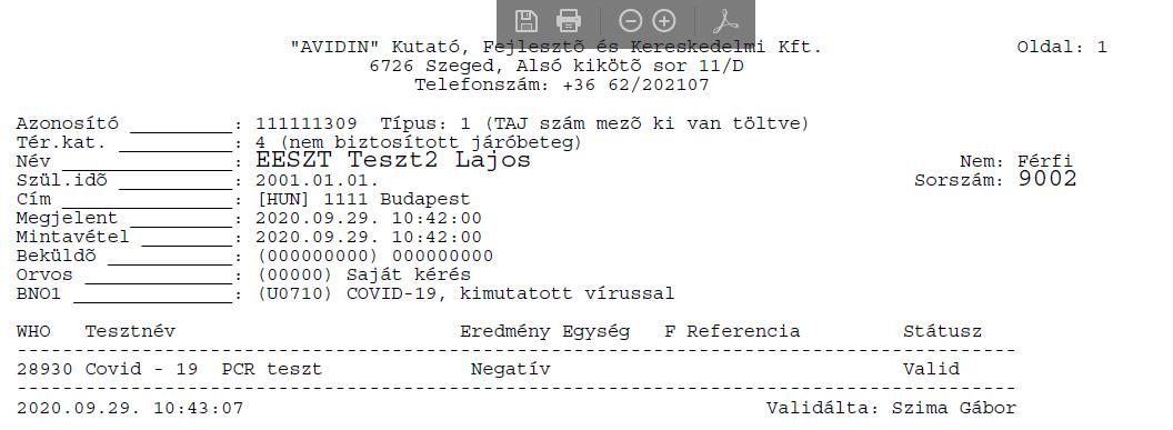Labor lelet PDF
